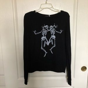 NWT Wildfox Dancing Skeletons Jumper